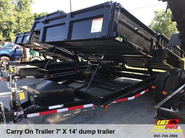 Carry On Trailer 7' X 14' dump trailer